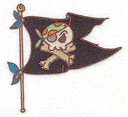 Small Pirate Flag embroidery design