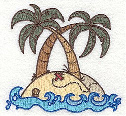 Treasure Island embroidery design