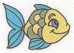 Happy Fish embroidery design