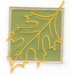 Leaf Outline Applique embroidery design