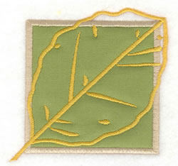 Birch Leaf Applique embroidery design