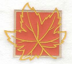 Maple Leaf Applique embroidery design
