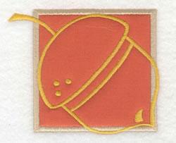 Acorn Applique embroidery design