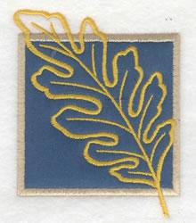 Oak Leaf Applique embroidery design