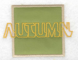 Autumn Applique embroidery design