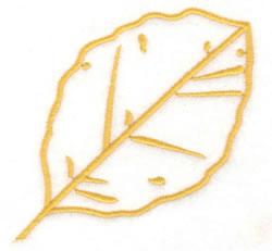 Birch Leaf Outline embroidery design