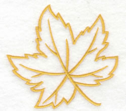 Maple Leaf Outline embroidery design