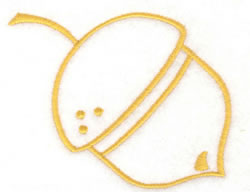 Acorn Outline embroidery design