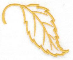 Beech Leaf Outline embroidery design