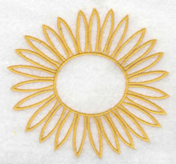 Sunflower Outline embroidery design