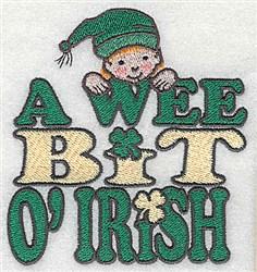 A Wee Leprechaun embroidery design