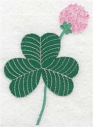 Shamrock With Bloom embroidery design