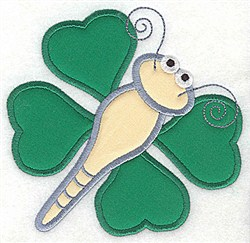 Shamrock Butterfly Applique embroidery design