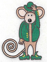 St. Patricks Mouse embroidery design