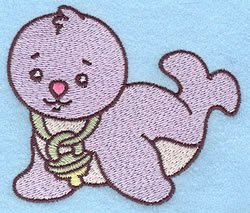 Baby Seal embroidery design