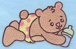 Baby Bear embroidery design