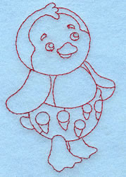 Baby Penguin Redwork embroidery design