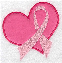 Awareness Ribbon Applique embroidery design