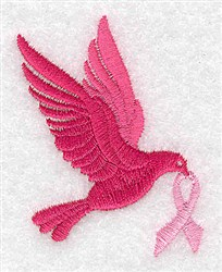 Dove With Ribbon embroidery design