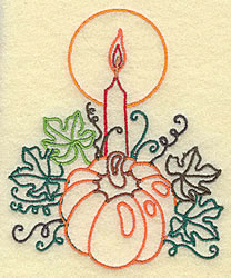 Pumpkin with Candle small embroidery design