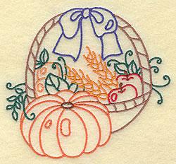 Fruit Basket  Outline embroidery design