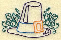 Pilgrim Hat embroidery design