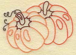 Pumpkins embroidery design