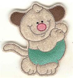 Feltie Dog embroidery design