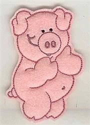 Feltie Piggy embroidery design