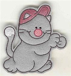 Feltie Cat embroidery design