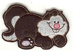 Feltie Fat Cat embroidery design
