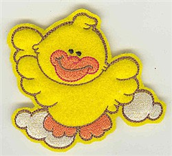Feltie Duck embroidery design