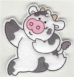 Feltie Cow embroidery design