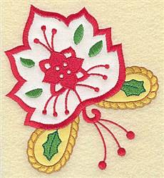 Christmas Double Applique embroidery design