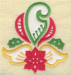 Christmas Wing Applique embroidery design