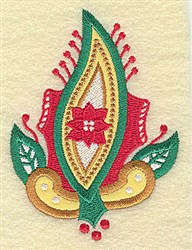 Christmas Poinsetta embroidery design