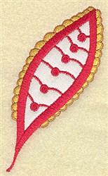 Christmas Leaf embroidery design