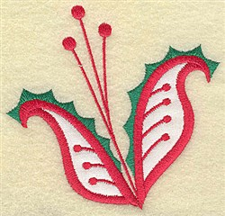 Christmas Paisley design I embroidery design