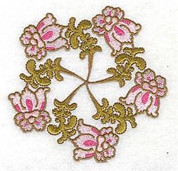 Scallop Flower Wreath embroidery design