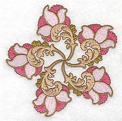 Scallop Floral Swirl embroidery design