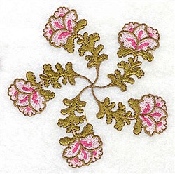 Florals & Leaves embroidery design