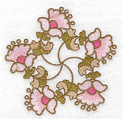 Floral Star embroidery design
