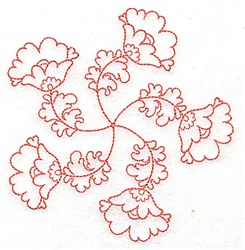 Delicate Floral embroidery design