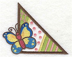 Corner Butterfly Applique embroidery design