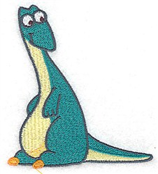 Sweet Dinosaur embroidery design