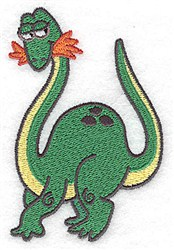Dinosaur Eating embroidery design