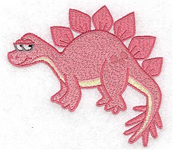 Shy Dinosaur embroidery design