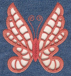 Cutwork Butterfly embroidery design