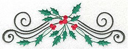 Holly Swirls embroidery design