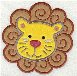 Applique Lion head embroidery design